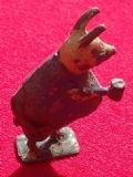 "Original 1934 Cococub figure Piglet Pig "" Blue and Green "" ( tail missing )"